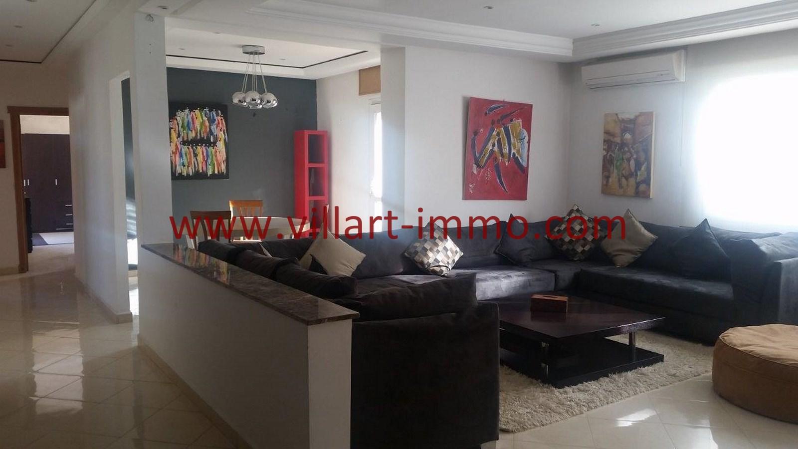 1-A louer-Appartement-Meublé-Tanger-Salon 1-L911-Villart immo