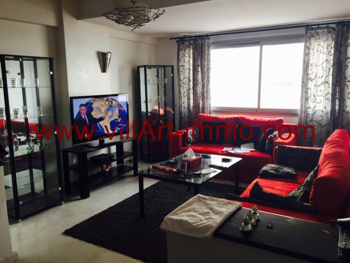 Superb 1 Location Appartement Meuble Centre Ville Tanger Salon  ...