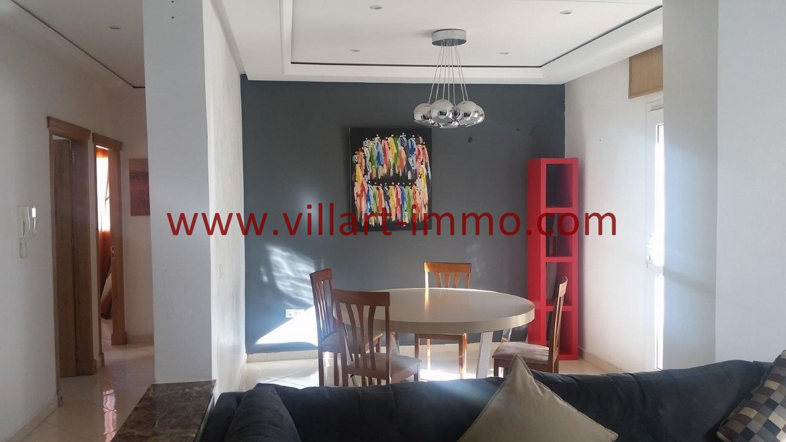 2-A louer-Appartement-Meublé-Tanger-Entrée-L911-Villart immo
