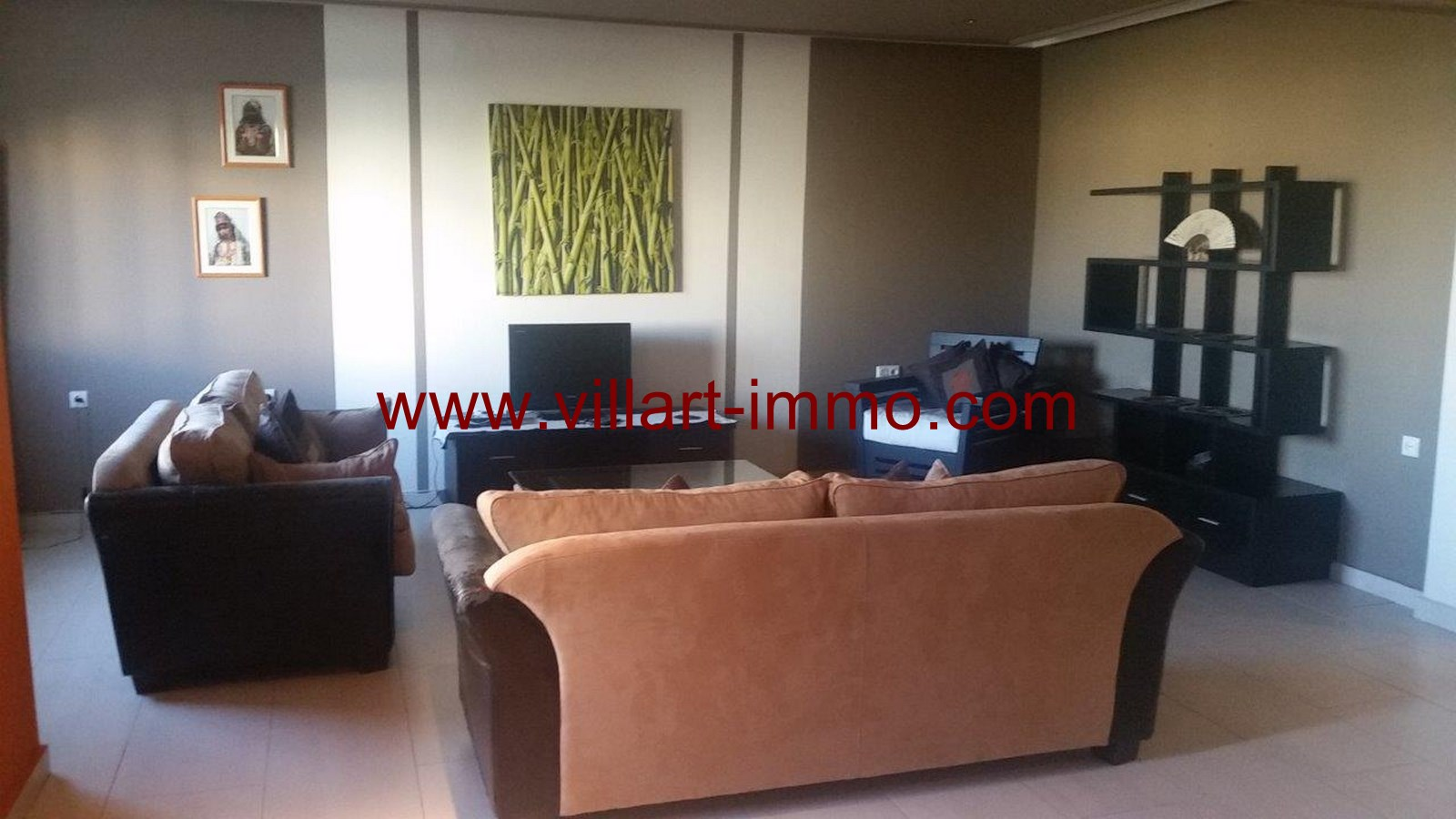 2-To Let-Villa-Furnished-Tangier-Living room 1-LSTV986-Villart-Immo