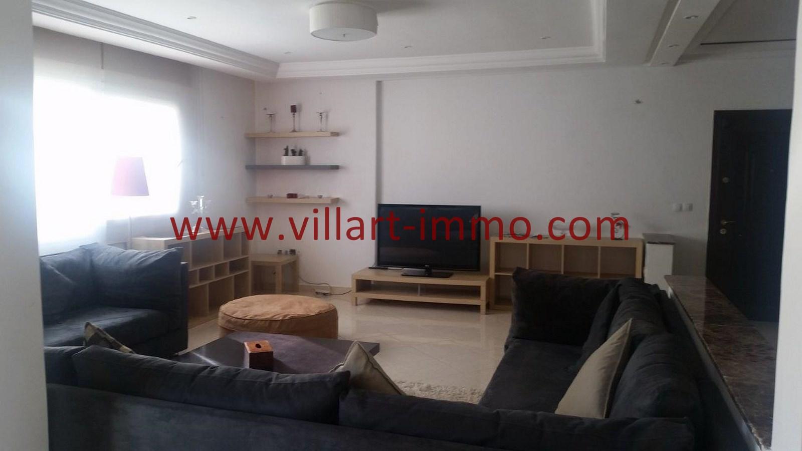 3-A louer-Appartement-Meublé-Tanger-Salon 2-L911-Villart immo