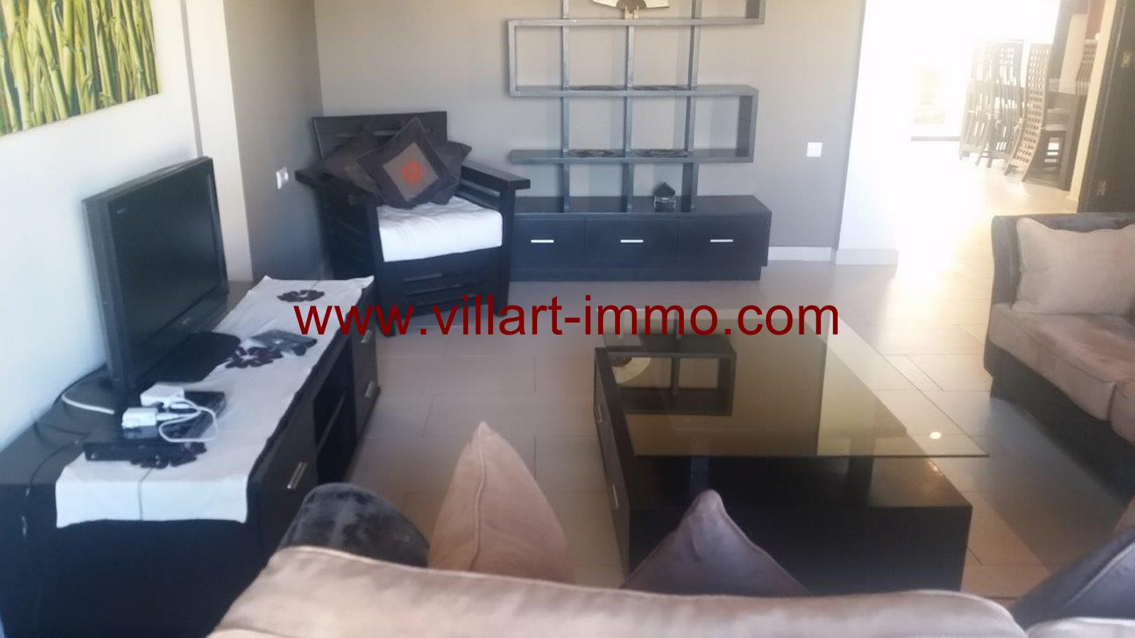 3-To Let-Villa-Furnished-Tangier-Living room 2-LSTV986-Villart-Immo
