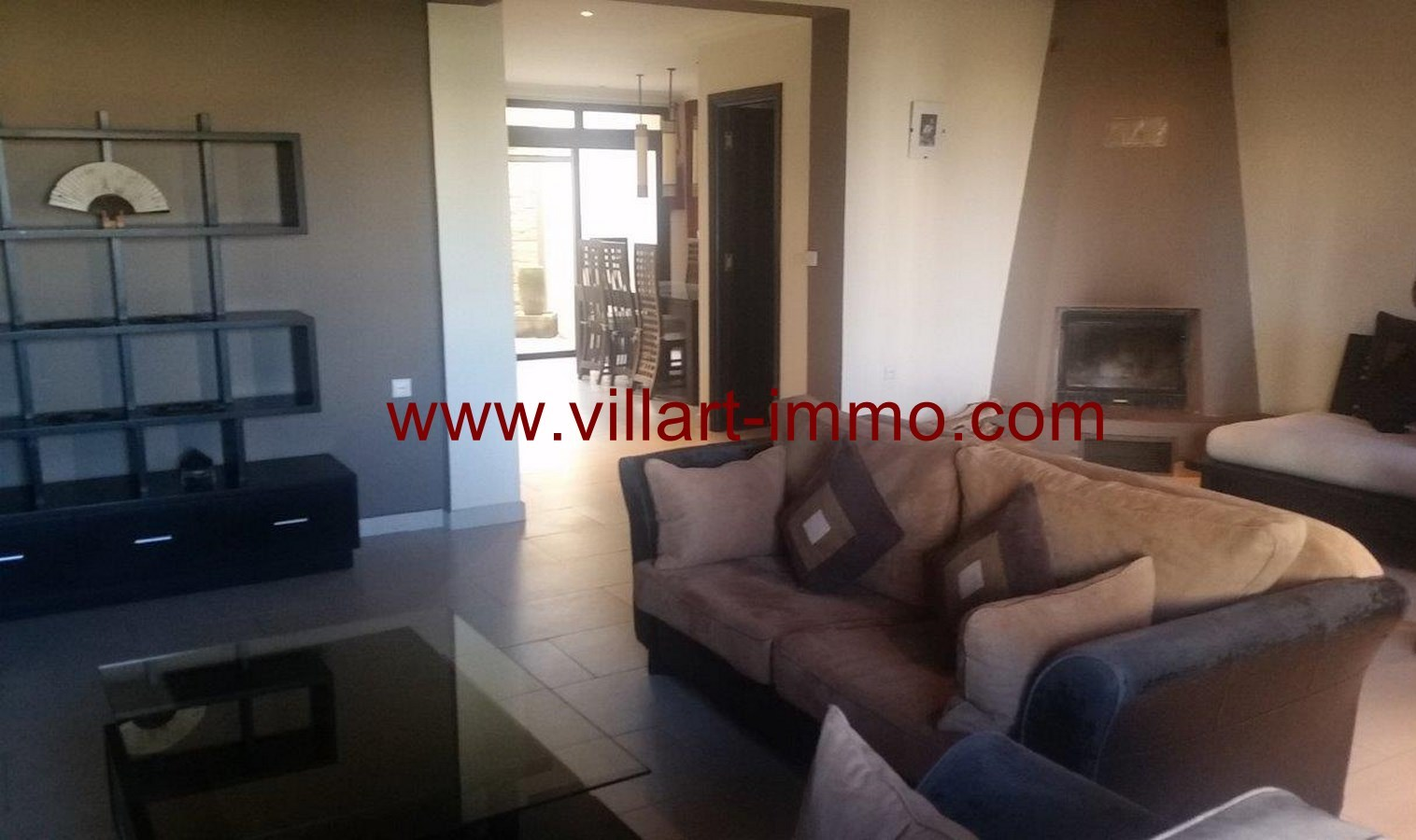 4-To Let-Villa-Furnished-Tangier-Living room 2-LSTV986-Villart-Immo