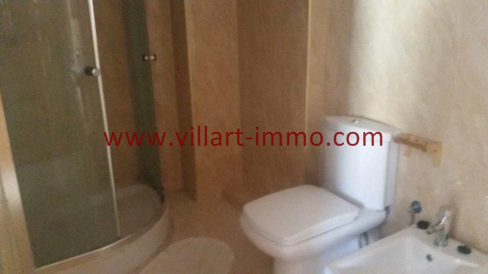 9-A louer-Appartement-Meublé-Tanger-Salle de bain'-L911-Villart immo