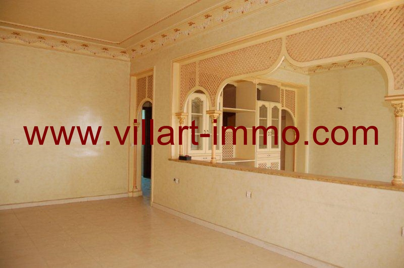 1-Location-Appartement-Non meublé-Tanger-Salon-L662-Villart immo