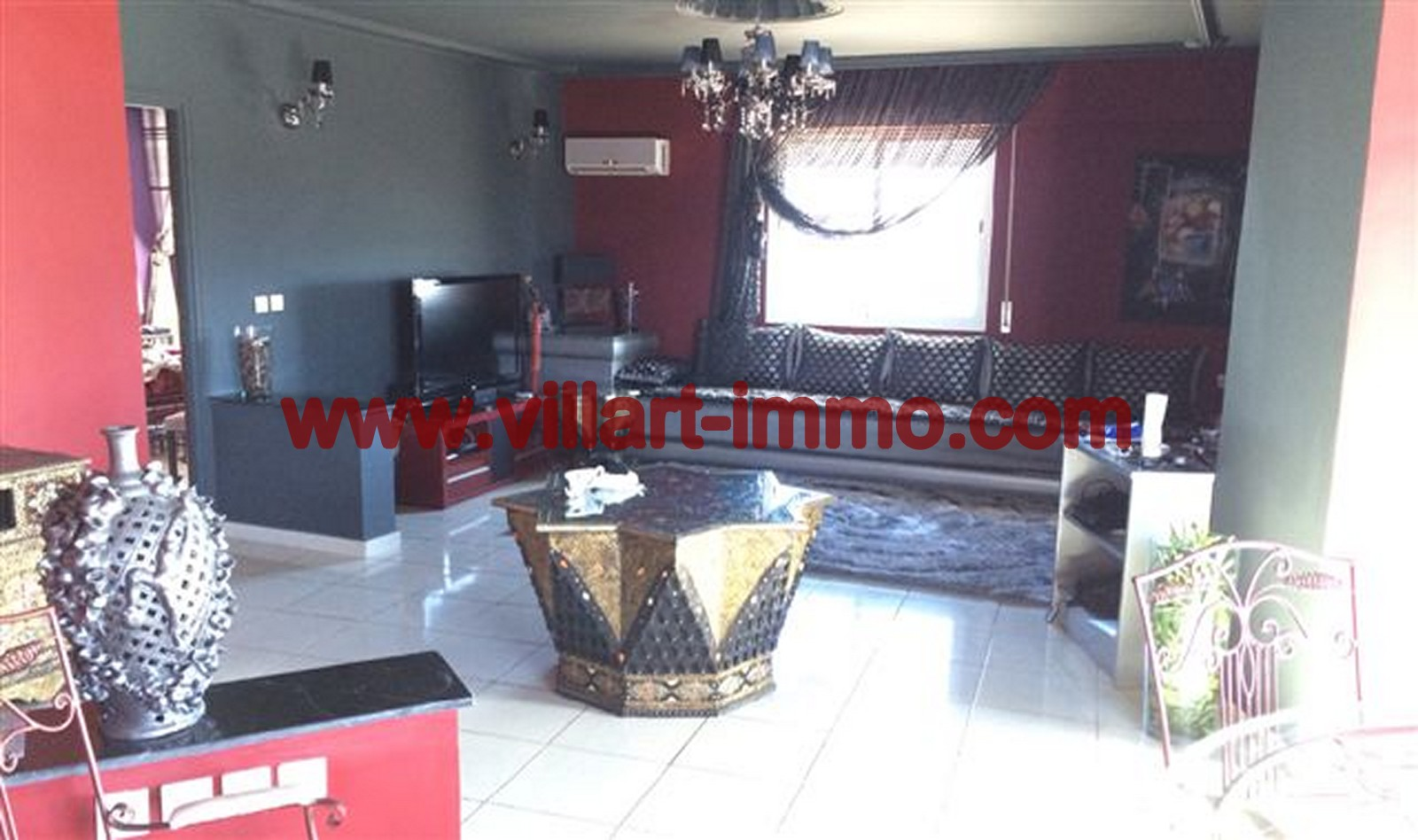 1 Location Appartement Meuble Tanger Salon L624 Villart  ...