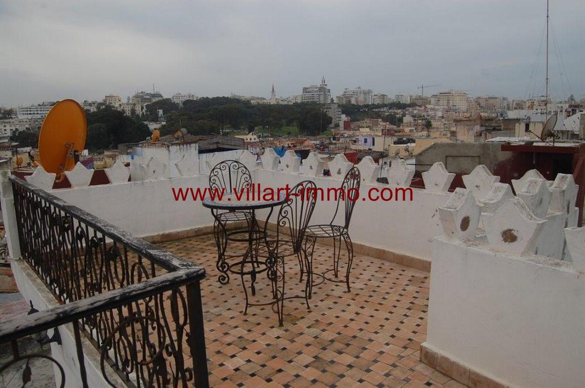 A louer magnifique maison meublée au cœur de la kasbah avec une vue splendide sur la baie de Tanger.