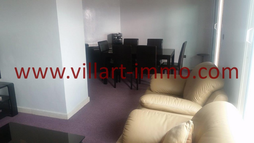 1-Location-Tanger-Appartement Meublé-Salon-Playa-L1025-Villart
