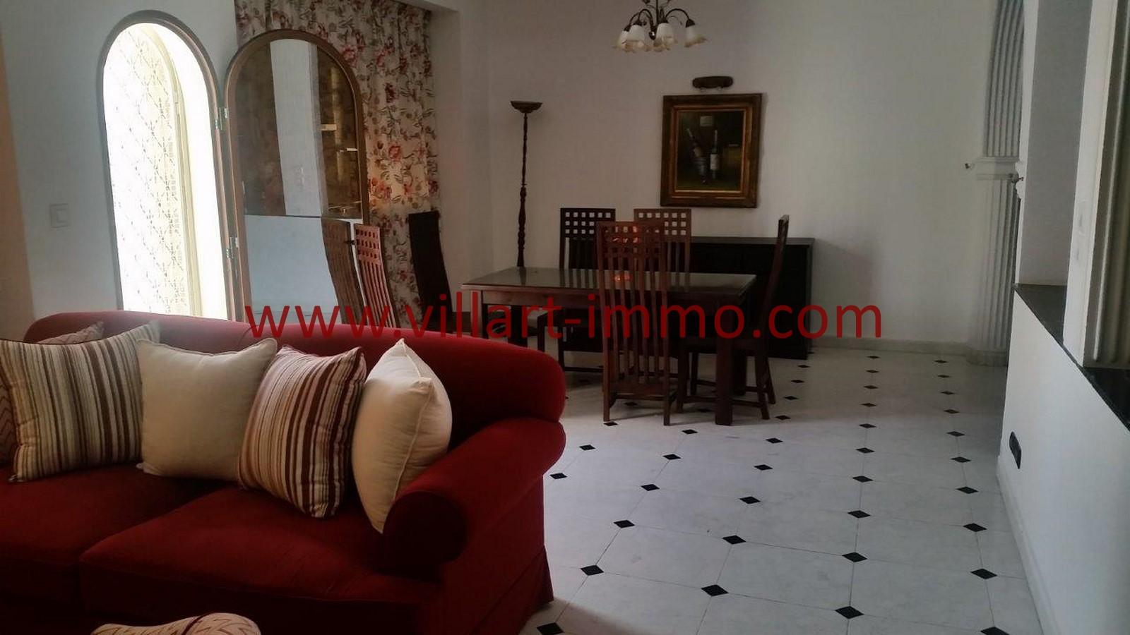Parfait 1 Location Appartement Meublé Tanger Centre Ville Salon 1  ... Conception Impressionnante