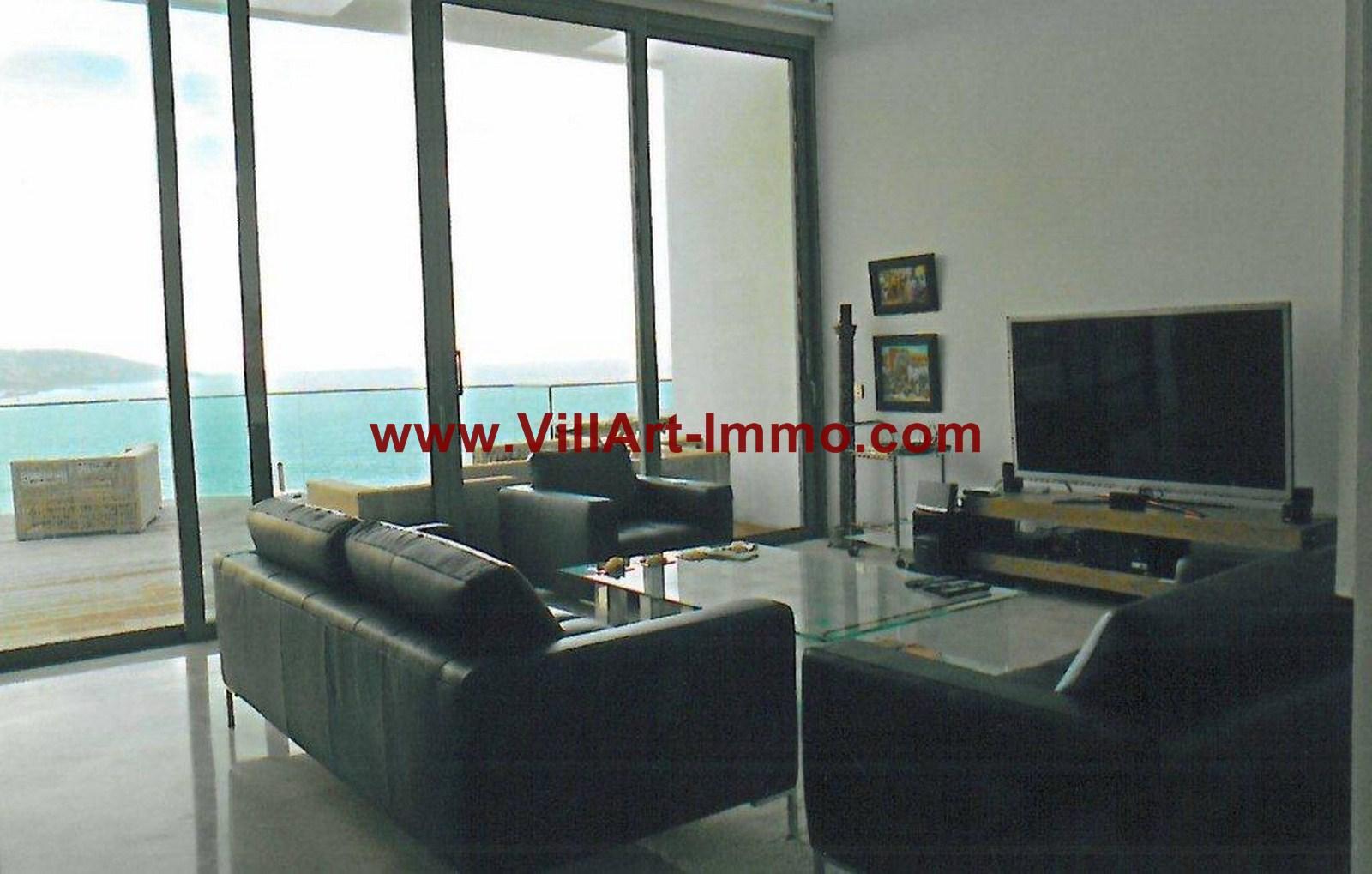 2-Location-Appartement-Meublé-Tanger-Salon-L749-Villart immo