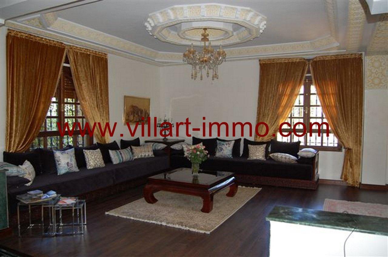 2-Vente-Villa-Tanger-La Montagne-Salon 2-VV235-Villart Immo