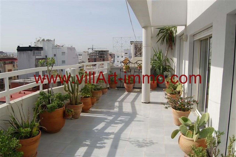 A louer spacieux appartement meubl avec tr s grande for Location appartement avec terrasse 92