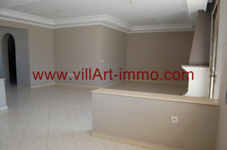 3-Location-Appartement-Non meublé-Tanger-Salon 2-L734-Villart immo