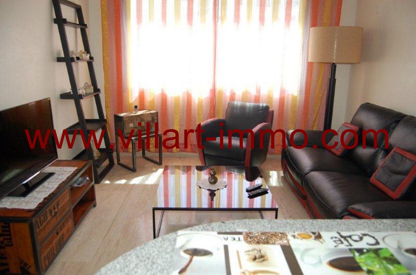 4-Location-Appartement-meublé-Tanger-salon-L678-Villart-immo