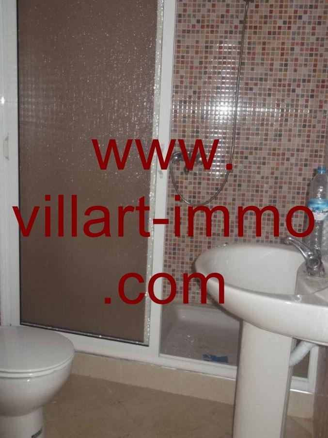 4-Location-Appartement-non meublé-Tanger-salle de bain-L616-Villart-immo