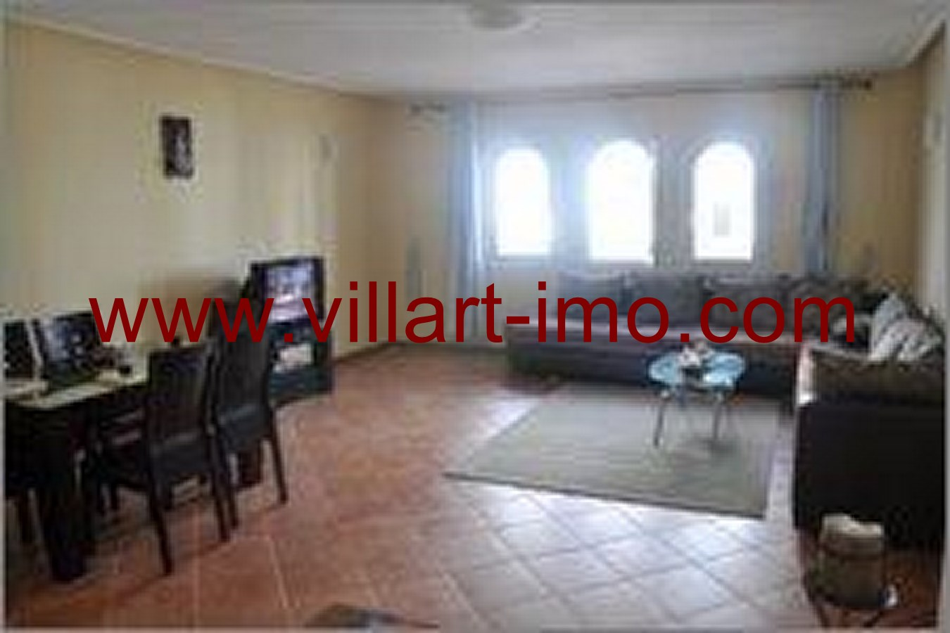 4- Vente -Appartement-Tanger-Maroc–Malabata- Salon-VA50-Villartimmo