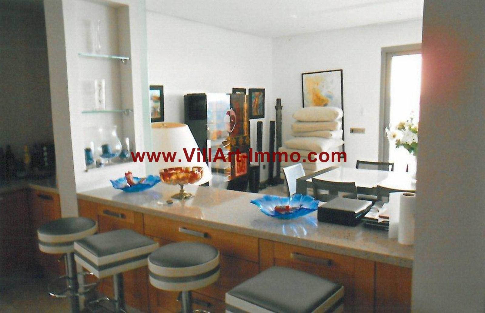 5-Location-Appartement-Meublé-Tanger-Salle à manger-L749-Villart immo