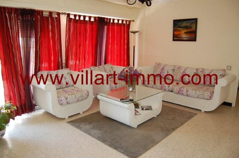 1 Location Appartement Meublé Tanger Salon L53 Villart Immo ...
