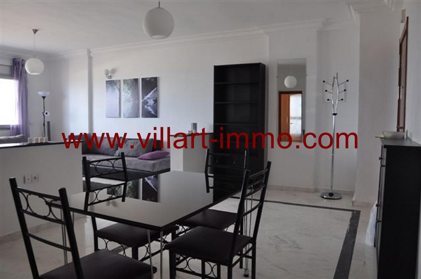 3-Location-Appartement-Meublé-Tanger-Centre ville-Salle à manger-L131-Villart immo