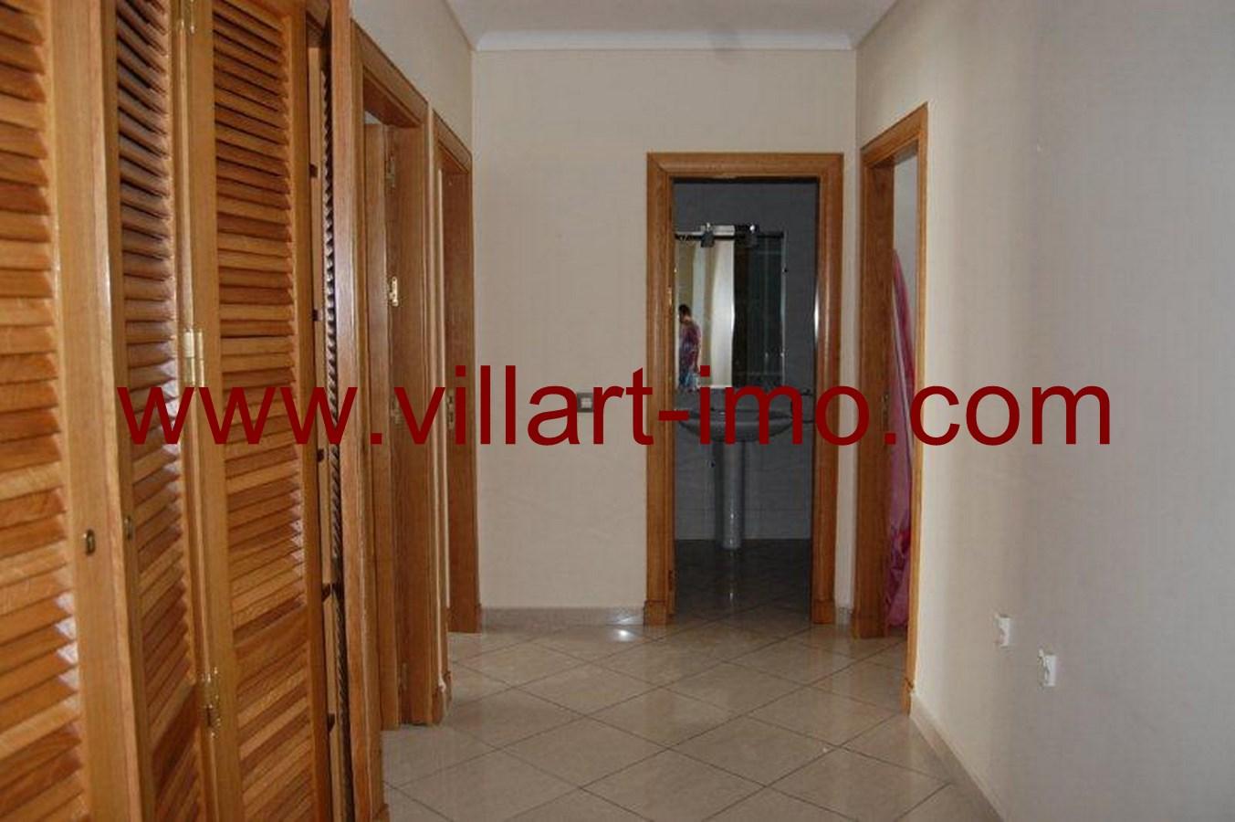 3-Location-Appartement-Non meublé-Tanger-Iberia-Couloir-L484-Villart immo