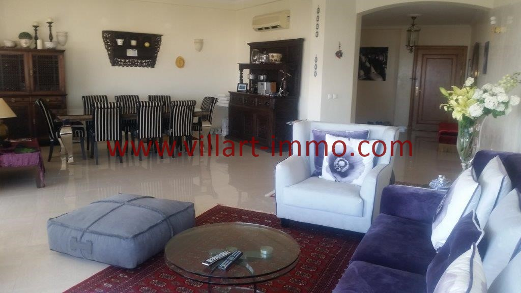 3-Location-Tanger-Appartement meublé-Iberia-Salon-L1027