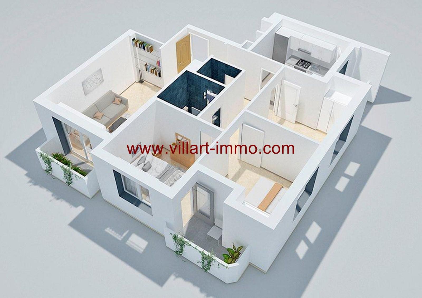 5-Vente-Appartement-Tanger-Centre-ville-SHAZ-Villart Immo