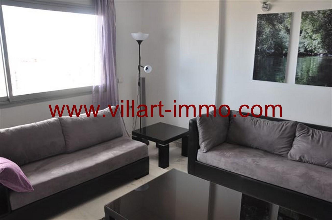 5-Location-Appartement-Meublé-Tanger-Centre ville-Salon 1-L131-Villart immo
