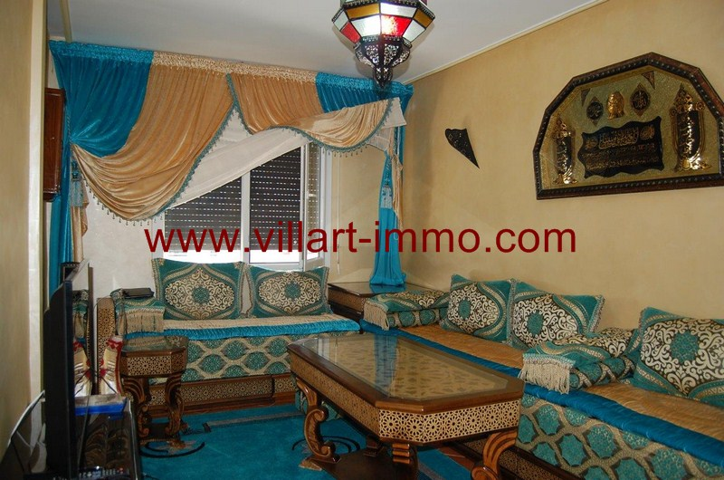7-Location-Appartement-Meublé-Tanger-Malabata-Salon Marocaine-L980-Villart immo