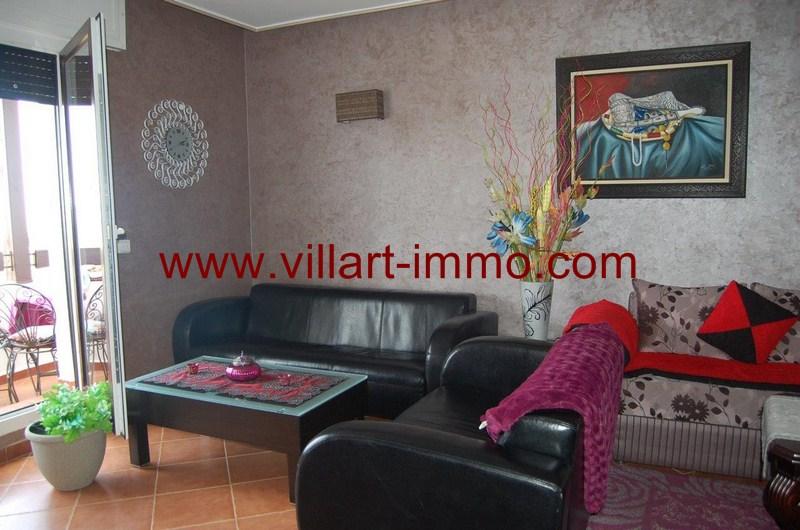 8-Location-Appartement-Meublé-Tanger-Malabata-Salon'-L980-Villart immo