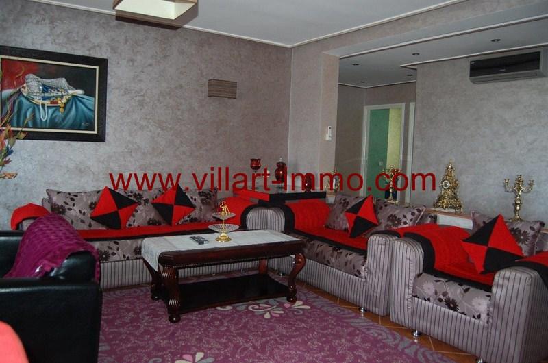9-Location-Appartement-Meublé-Tanger-Malabata-Salon 2-L980-Villart immo