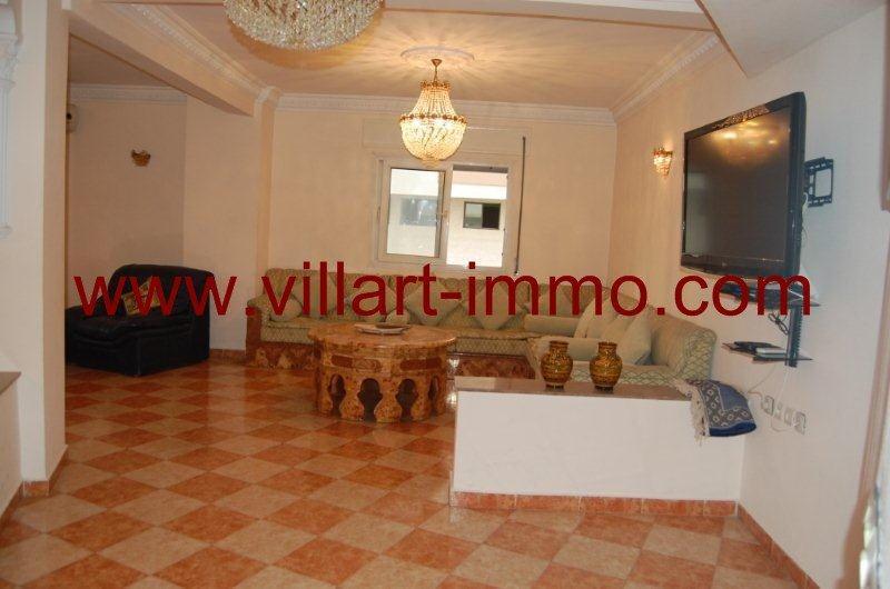 1-A louer-Appartement-Meublé-Tanger-Salon 1-L888-Villart immo