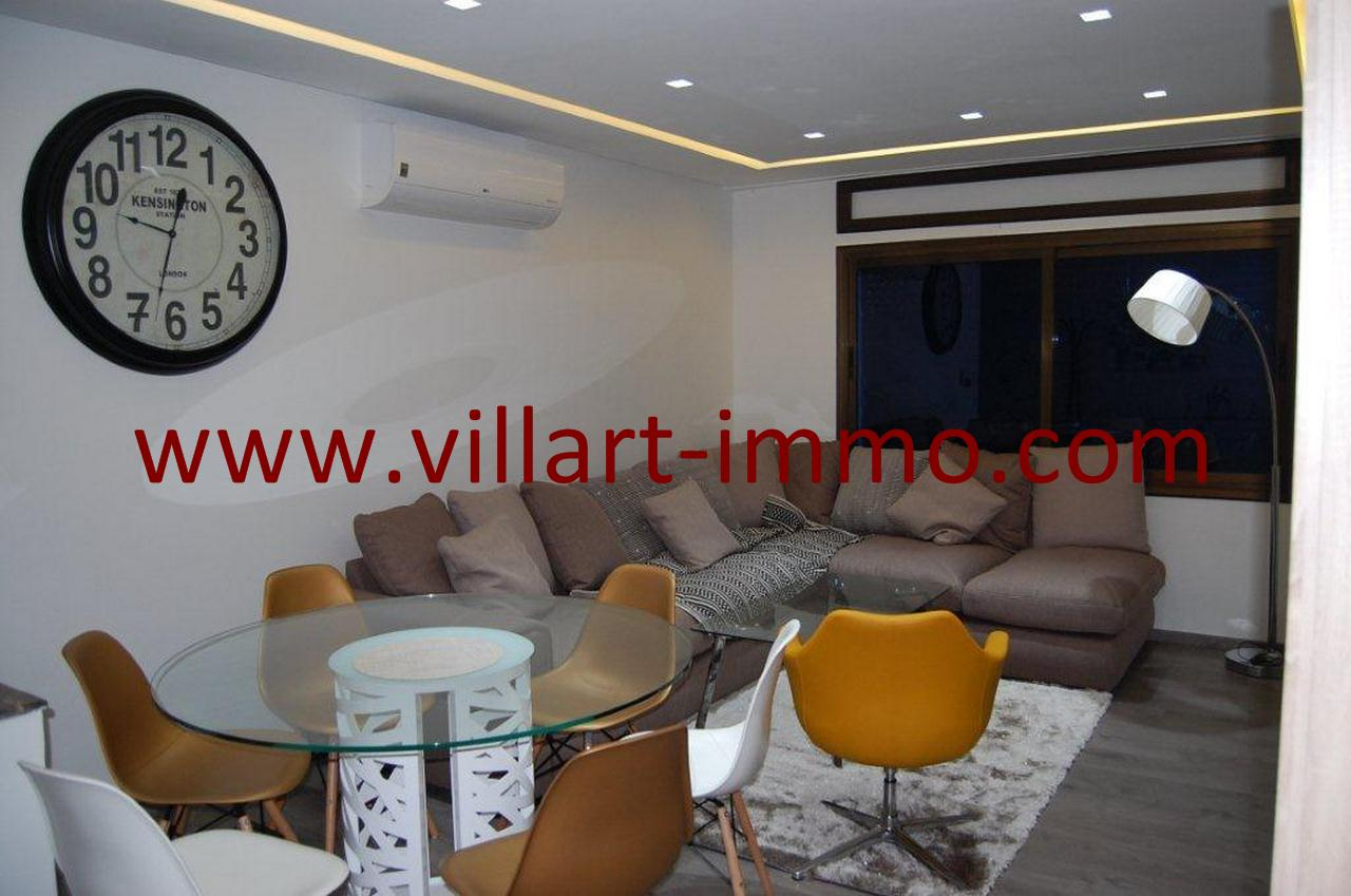 1-Location-Tanger-Appartement meublé-Malabata-Salon-L1034