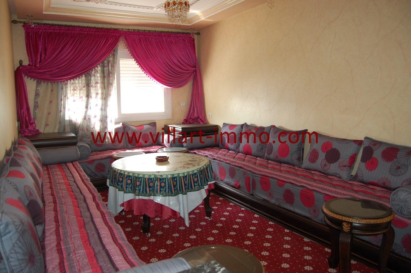 1-Vente-Appartement-Tanger-Malabata-Salon-VA486-Villart Immo