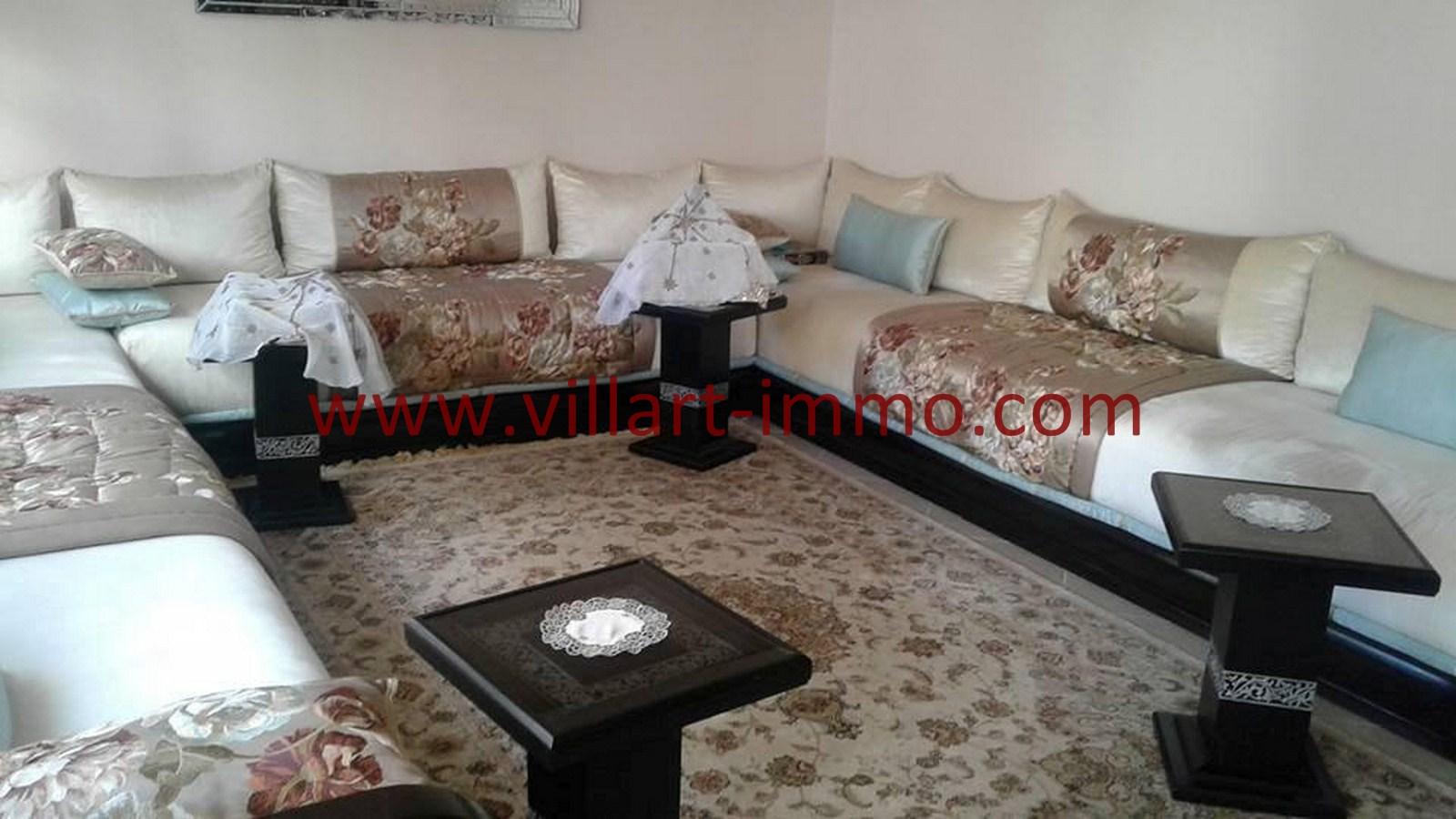 1-Vente-Appartement-Tanger-Route-de-Rabat-Salon 1-VA476-Villart Immo