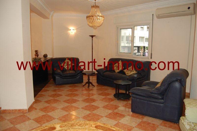 3-A louer-Appartement-Meublé-Tanger-Salon 3-L888-Villart immo