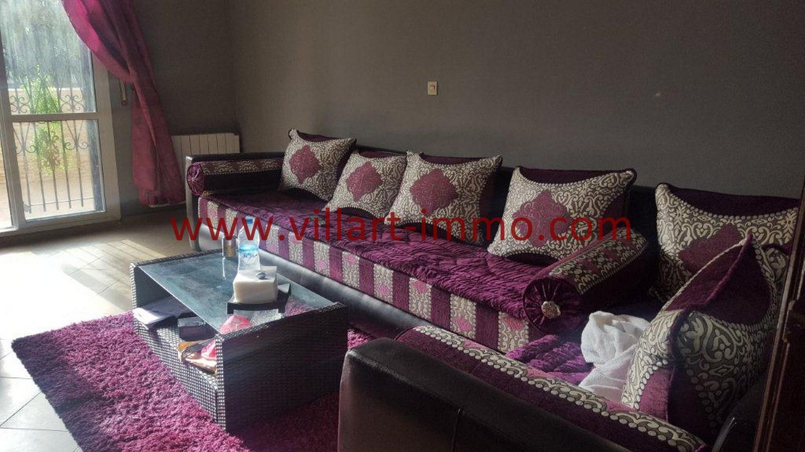 2-Vente-Appartement-Tanger-Val fleuri -Sejour-VA484-Villart Immo