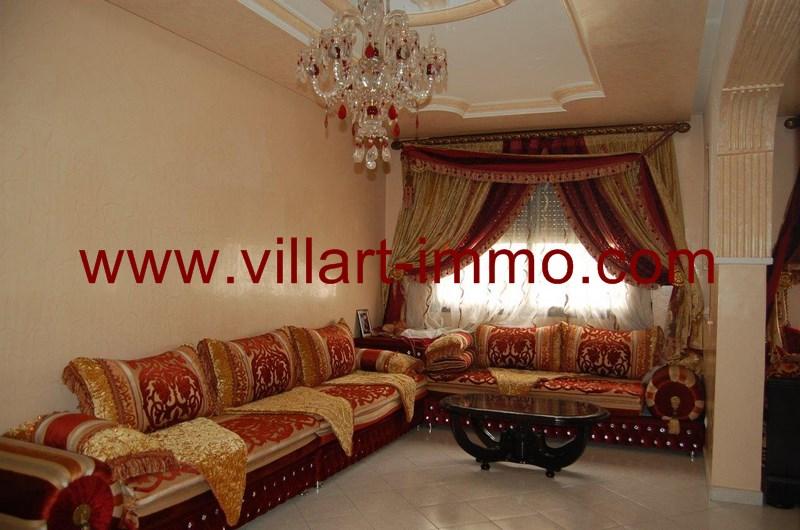 1-Location-Appartement-meublé-Tanger-Salon - L55-Villart-Immo