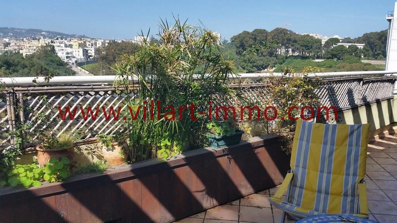 14-A louer-Tanger-Appartement-Meublé-Iberia-Vue terrasse-L1039