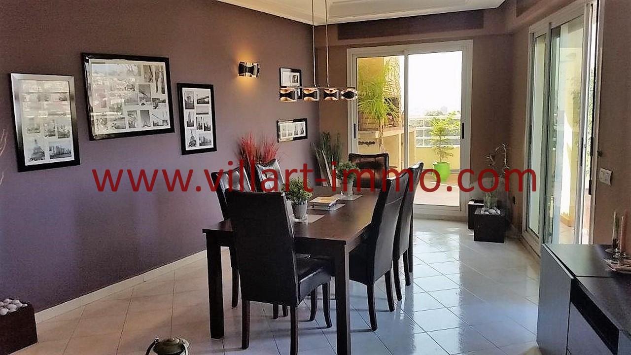 2-A louer-Tanger-Appartement-Meublé-Iberia-Salle à manger-L1039