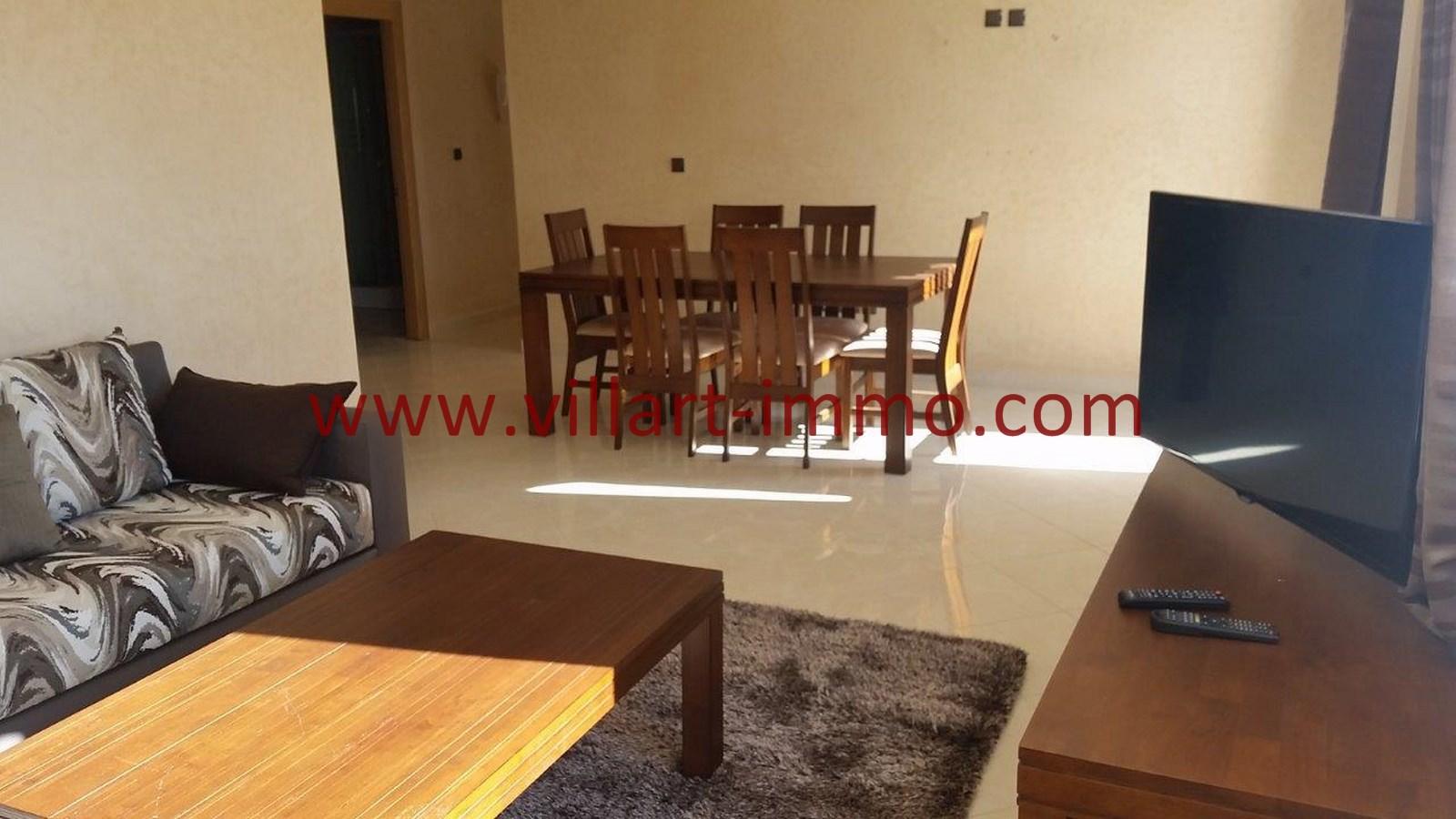 2-Location-Appartement-Meublé-Achakar-Tanger-Salle à manger-L831-Villart immo