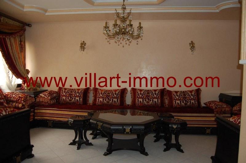 2-Location-Appartement-meublé-Tanger-Salon 2 - L55-Villart-Immo