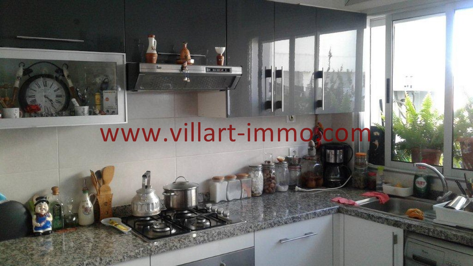 6-A louer-Appartement-Tanger-Castilla-Cuisine-L1040-Villart immo-Agence Immobilière
