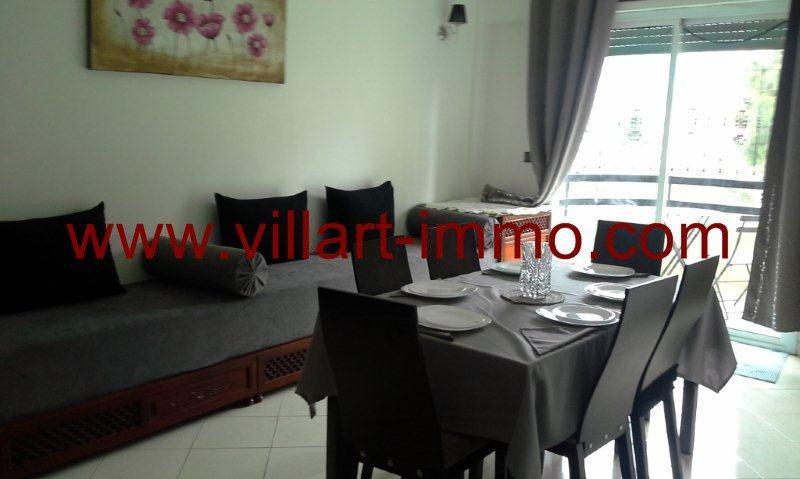 3-Location-Tanger-Appartement-Centre-Ville-L418-Salon-Coin salle à manger