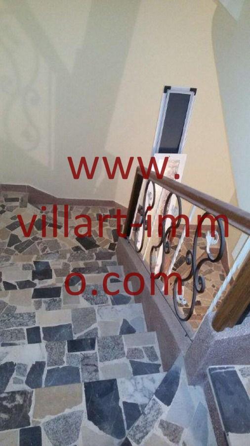 7-Vente-Maison-Tanger-Mojahidine - Escalier-VM500-Villart Immo