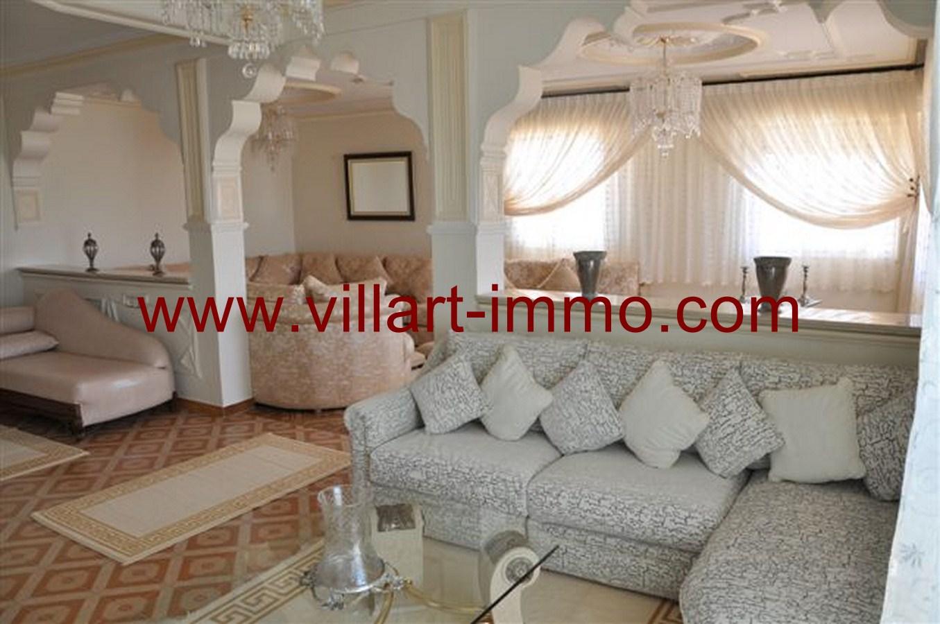 1-Appartement-Meublé-Salon-Tanger-agence immobilière-villartimmo