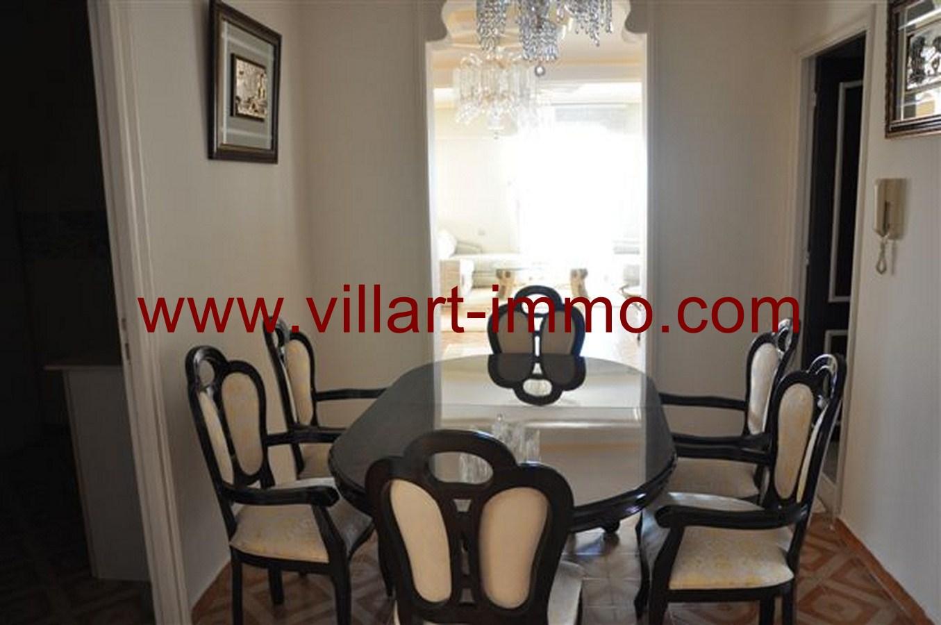 2-Appartement-Meublé-Salle à manger-Tanger-agence immobilière-villartimmo