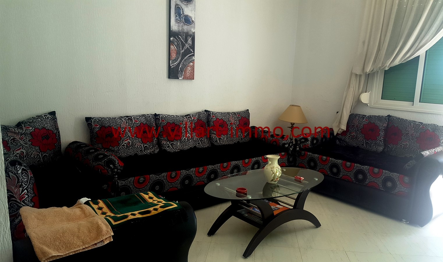 2-Vente-Appartement-Assilah-Salon-VA508-Villart Immo