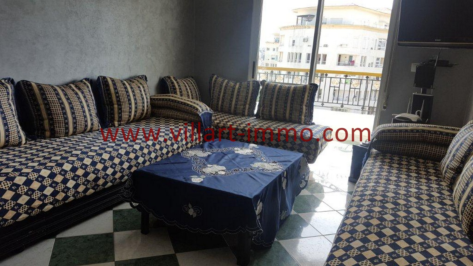 4-Vente-Appartement-Tanger-Malabata-Salon-VA507-Villart Immo