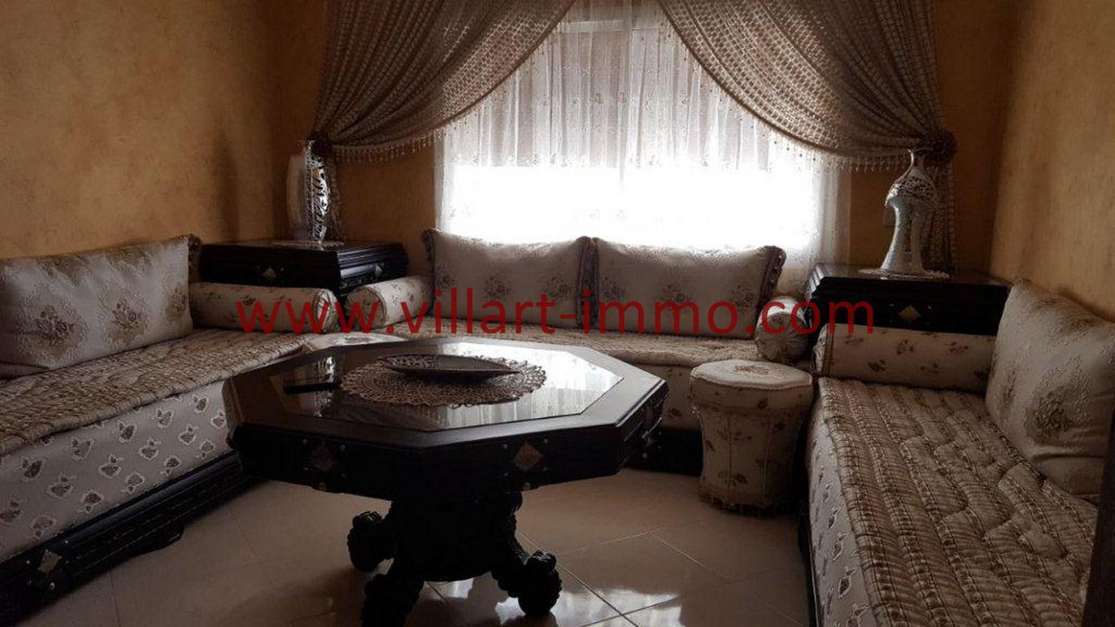 1-Vente-Appartement-Tanger-Salon 1-VA514-Route de Rabat-Villart Immo