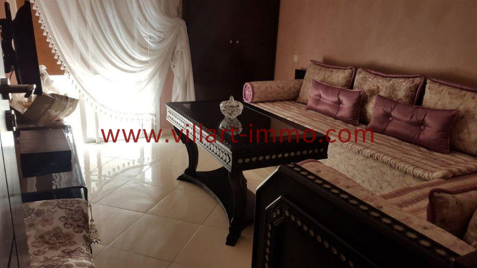 2-Vente-Appartement-Tanger-Salon 2-VA514-Route de Rabat-Villart Immo